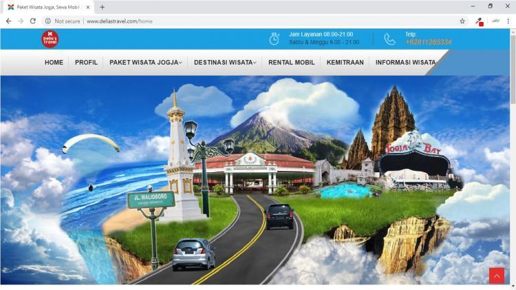 Delias Travel, Website Paket WIsata dan Sewa Mobil Yogyakarta