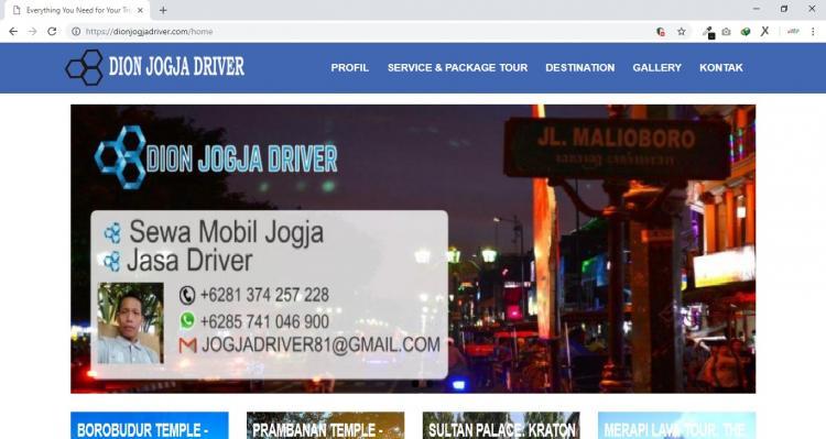 Dion Jogja Driver, Yogyakarta Local Driver & Travel Guide