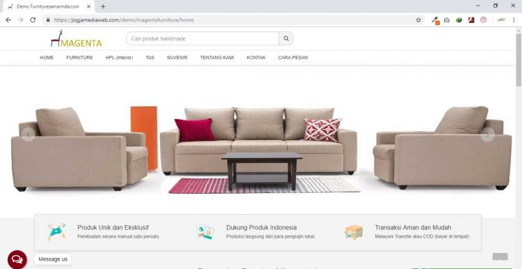 Furniture Desain, Jasa Pembuatan Website Furniture Desain