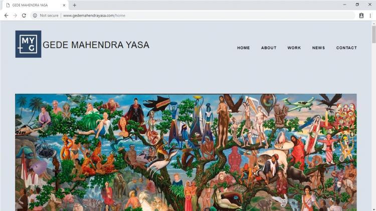Gede Mahendra Yasa, Website Profile Seni Lukisan Art Galery