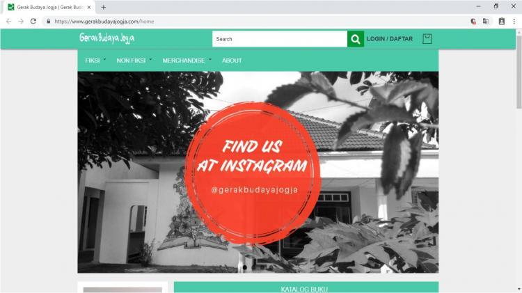 Gerak Budaya Jogja, Website Toko Online Buku Terlengkap di Yogyakarta