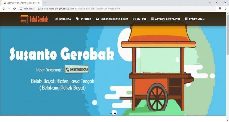 Jual Gerobak Angkringan, Website Usaha Penjualan Gerobak Angkringan ke Seluruh Indonesia