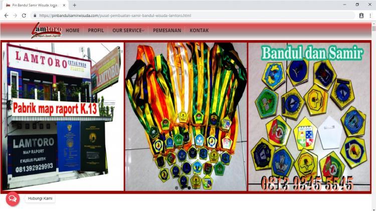 Lamtoro Bandul Wisuda dan Samir, Website Penjualan Pin samir bandul wisuda Yogyakarta dan Sekitaranya