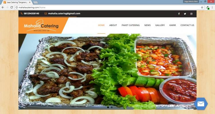 Mahalia Catering , Portofolio Website Catering