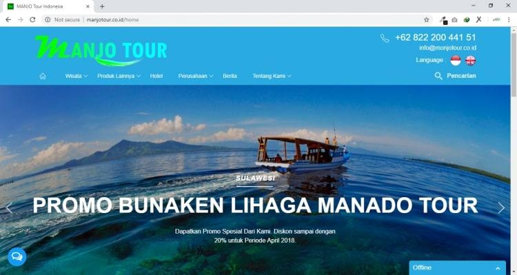 Manjo Tour, Webisite Tour & Travel