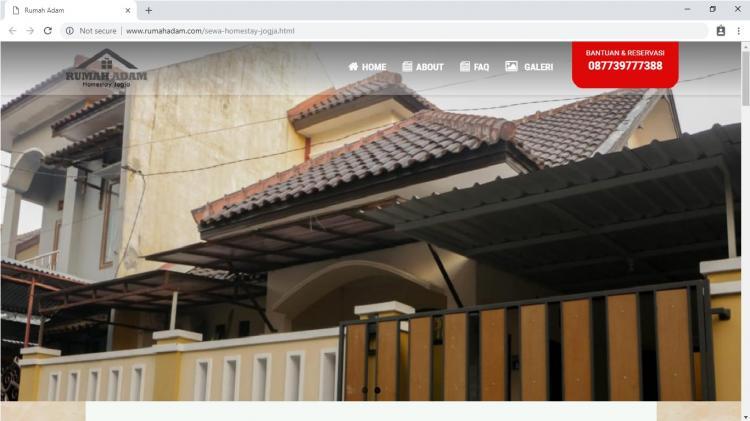 Rumah Adam Homestay Jogja, Website Persewaan Homestay Yogyakarta