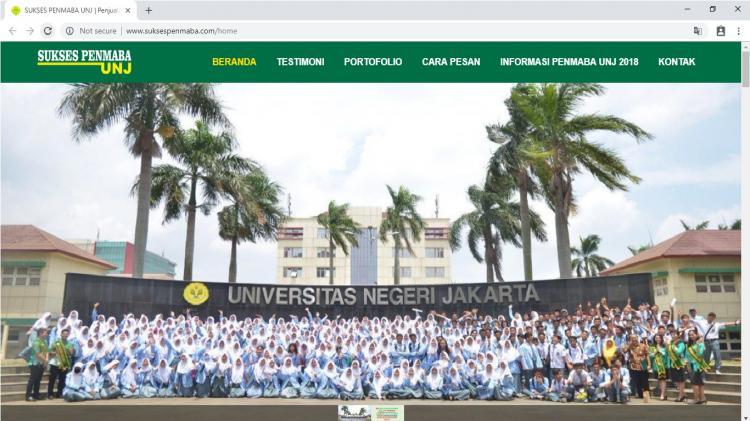 Sukses Penmaba UNJ, Website Informasi & Penjualan Buku  Penmaba Universitas Negeri Jakarta