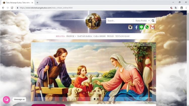 Toko Keluarga Kudus Jogja, Toko Online Kristen Katolik Yogyakarta