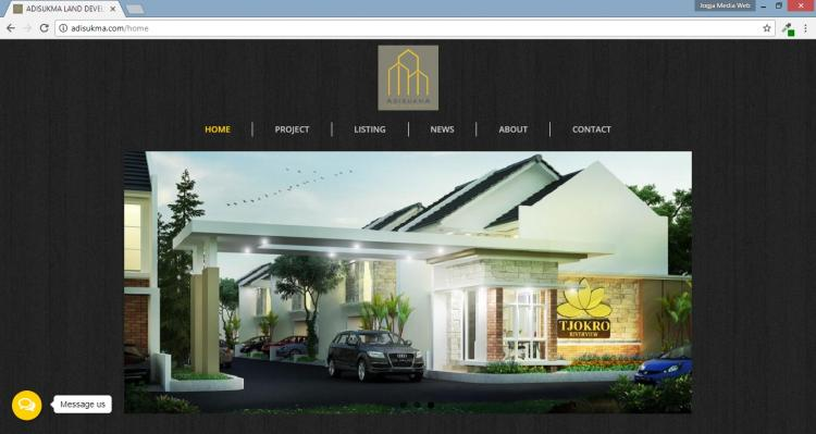 Adisukma Land Development, Website Development Perumahan