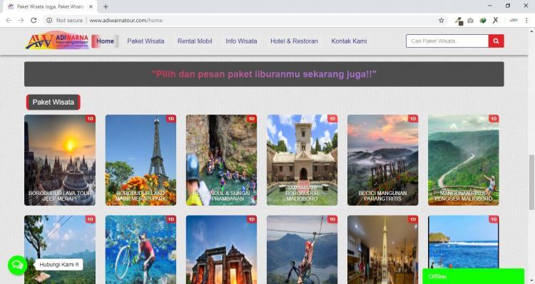 Adiwarna Tour, Paket Wisata Jogja dan Rental Mobil Yogyakarta
