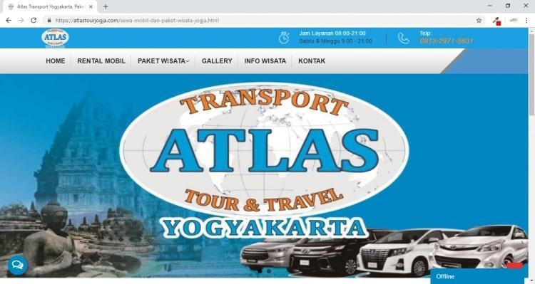 Atlas Transport Yogyakarta, Peket Wisata dan Persewaan Mobil Jogja