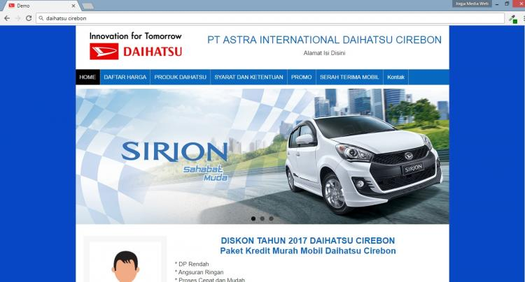 Daihatsu Cirebon, Website Merketing Penjualan Mobil