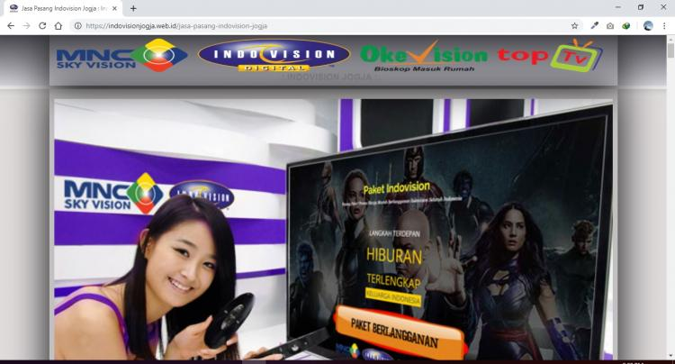 Indovision Jogja - indovisionjogja.web.id, Website Marketing Indovision Jogja