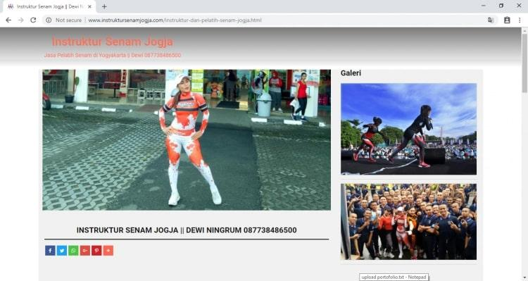 Instruktur Senam Jogja : Google #1, Website Pelatih Senam Yogyakarta