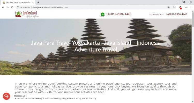 Tour and Travel Agent Yogyakarta : Java Para Travel Indonesia