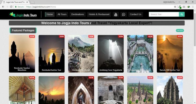 Jogja Indo Tours, Website Tour Travel Yogyakarta