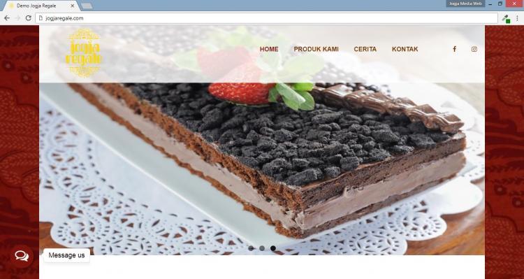 Jogja Regale, Website Penjualan Makanan