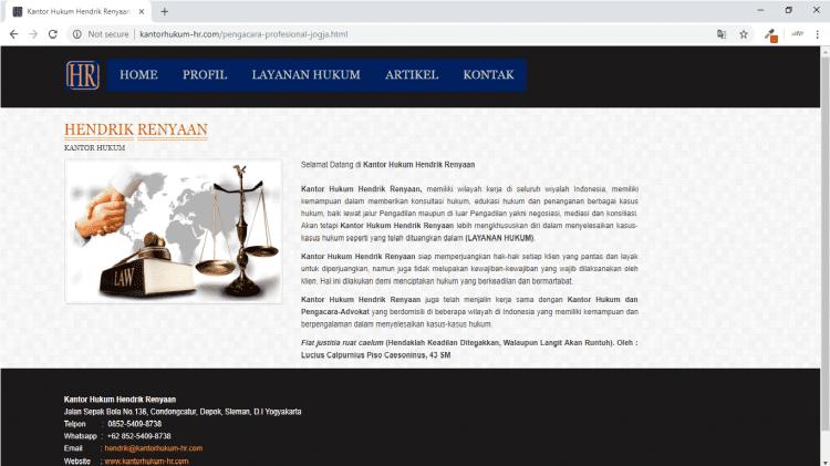 Kantor Hukum Hendrik Renyaan, Kantor Pengacara Yogyakarta : Kantor Hukum Jogja