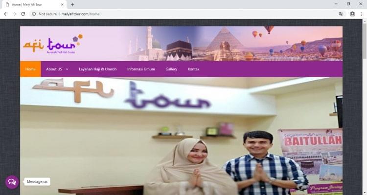 Melly Afi Tour, Website Penyelenggara Haji dan Umroh