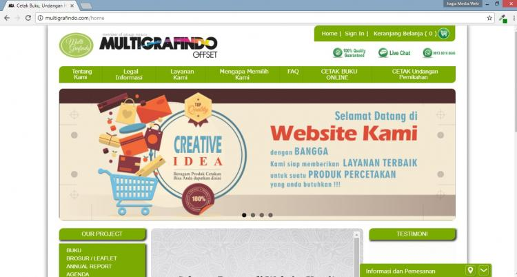 Multigrafindo Offset, Website Percetakan Buku & Undangan