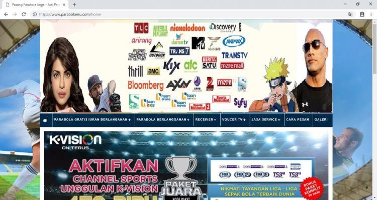 Jasa Pasang Parabola Jogja, Website Usaha Jasa Pemasangan Parabola Yogyakarta