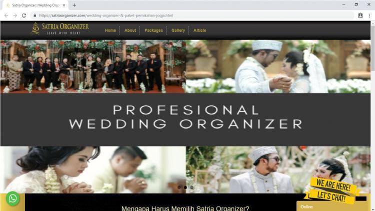 Satria Organizer Jogja, Paket Pernikahan Jogja : Wedding Planner & Wedding Organizer Yogyakarta