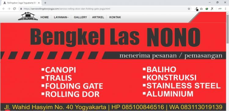 Service Rolling Dor Jogja, Jasa Service Rolling Dor dan Bengkel Las Yogyakarta