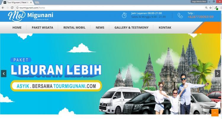 Tour Migunani, Website Tour Travel Yogyakarta