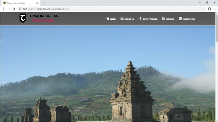 Tunas Indonesia Tours & Travel, Website Tour Package Indonesia