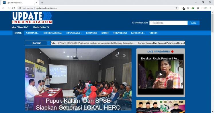 Update Indonesia, Website Portal Berita Kota Bontang Kalimantan Timur