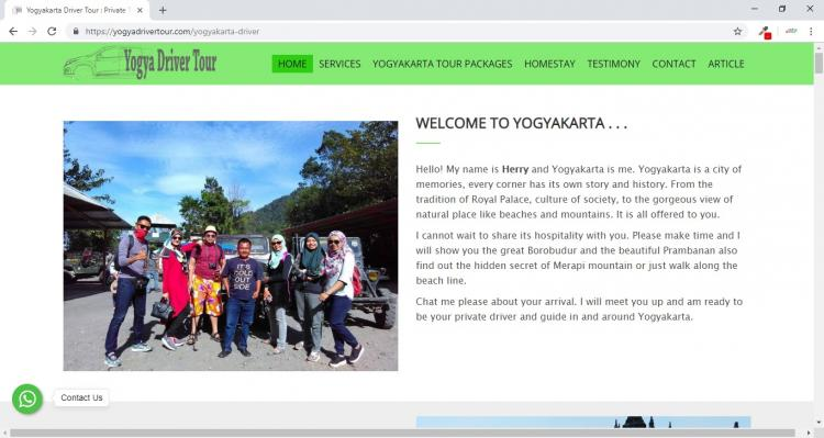 Yogya Driver Tour, Website Tour Travel Yogyakarta : Yogyakarta Tour & Yogyakarta Driver